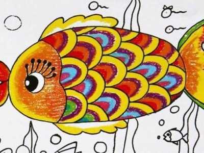 用彩铅画小动物 卡通动物彩铅画图片