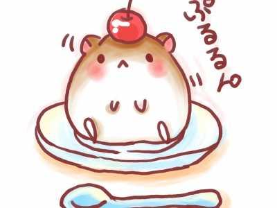 仓鼠q版萌图草莓 卡通仓鼠图片