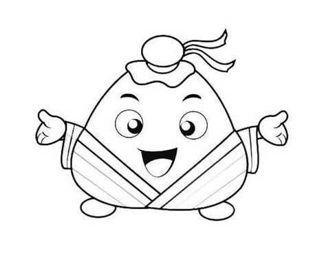 粽子图片卡通简笔画 粽子的简笔画卡通版