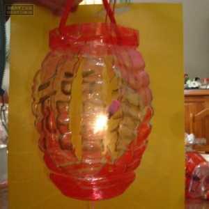 废弃矿泉水瓶手工制作灯笼