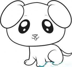 小狗怎么画 小狗绘画教程图片