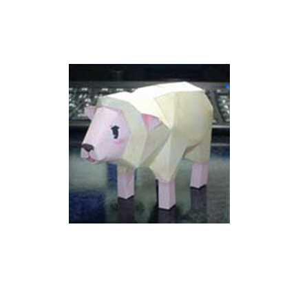 立体动物手工制作小羊 新年可爱小羊手工纸模型图纸