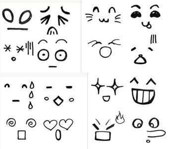 简笔画表情图片大全-人的十种面部表情_人物简笔画   5068儿童网