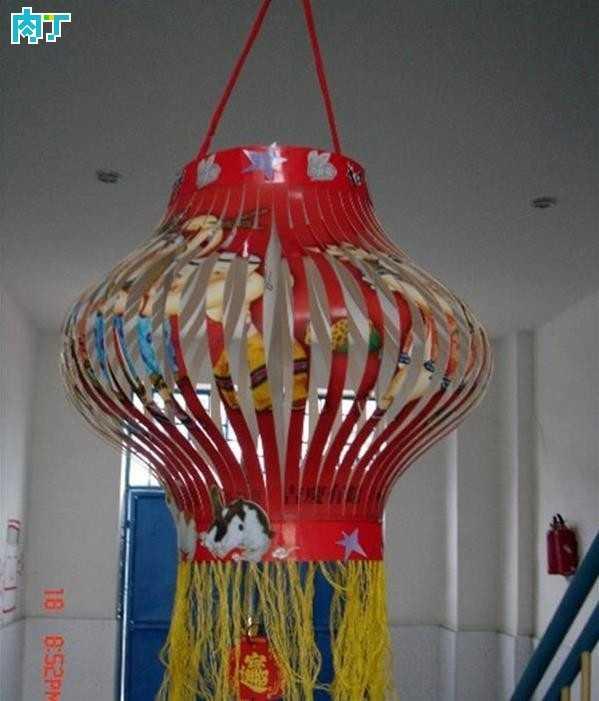 手工灯笼制作 幼儿园亲子环保手工灯笼作品大全