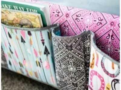 悬挂式收纳袋 旧毛巾改造成悬挂式的创意收纳袋