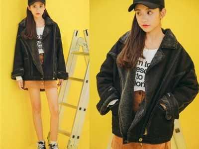 黑色牛仔外套韩版宽松 休闲十足的韩版宽松牛仔外套搭配