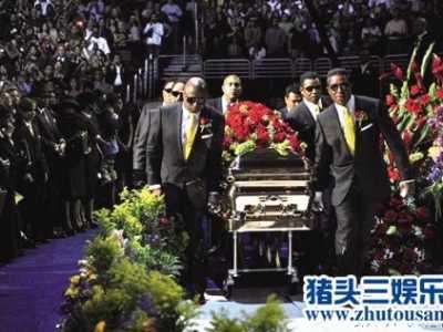 杰克逊的葬礼 迈克杰克逊葬礼现场照片