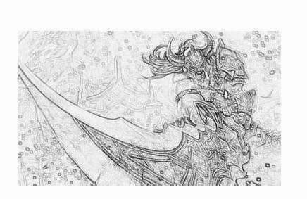 素描lol人物的武器图_lol最好画的英雄 lol英雄人物素描画的图片 - 唯美女性网