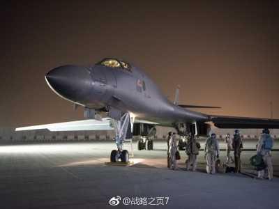 米尔登霍尔 今天美国空军向卡塔尔乌代德空军基地增加部署2架B-1B轰炸机