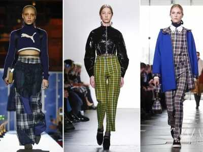 冬季牛仔短裤搭配 这个冬天比牛仔裤更好搭的竟然是格纹裤