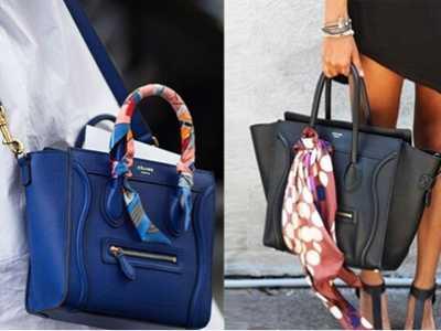 包包巾绑包绑法 教你如何做到换季不换包