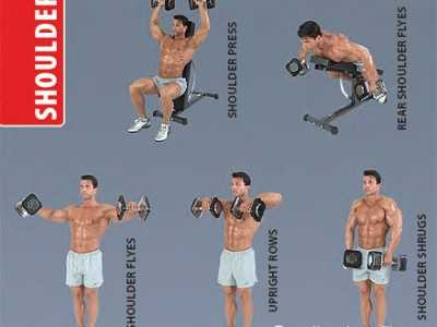 哑铃健身图解 全套哑铃锻炼方法图解