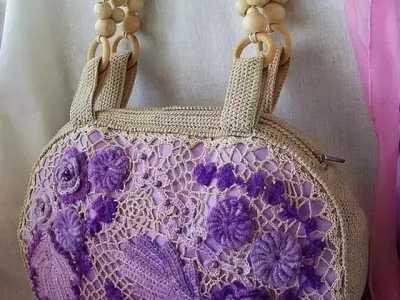 爱尔兰包包钩法图解 这种风格的编织包包