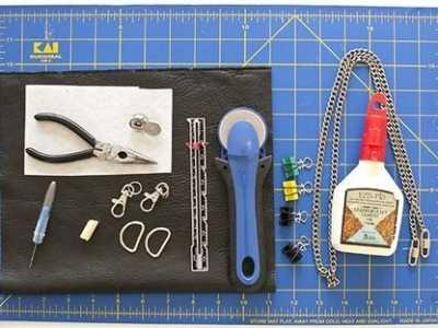diy手工包包流苏图片 复古风格的皮革流苏包制作做法图解