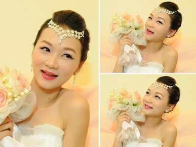 韩国新娘妆 演绎独特的后现代主义新娘妆