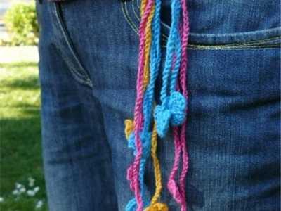 腰带的勾针编织方法 新手也可以玩转的创意编织之腰带篇