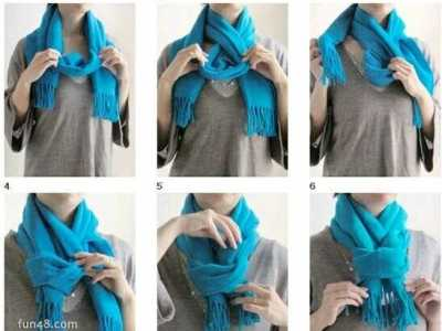 围巾的围法图解 围巾的系法图解和围巾的各种围法