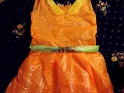 塑料袋公主裙制作方法 塑料袋制作漂亮裙子环保衣